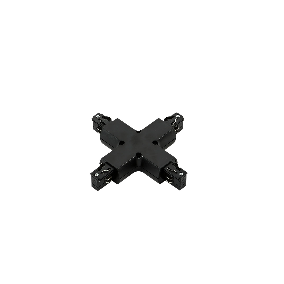 TR-PLUS-JOINT-BL 4 phase track - cross joint - black